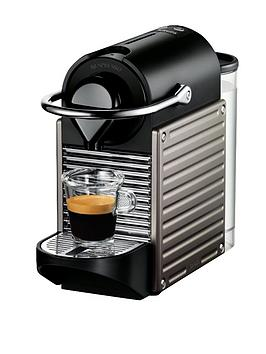 Nespresso Pixie Clips Xn300540 Coffee Machine By Krups  Titanium