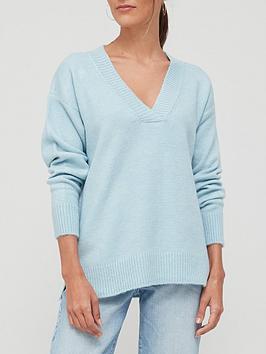 v-by-very-knitted-easy-v-neck-jumper-lightnbspblue