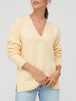 v-by-very-knitted-easy-v-neck-jumper-buttermilknbspyellow
