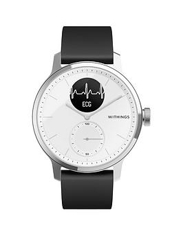 withings-withings-scanwatch-hybrid-smartwatch-with-ecg-heart-rate-oximeter-42mm-white