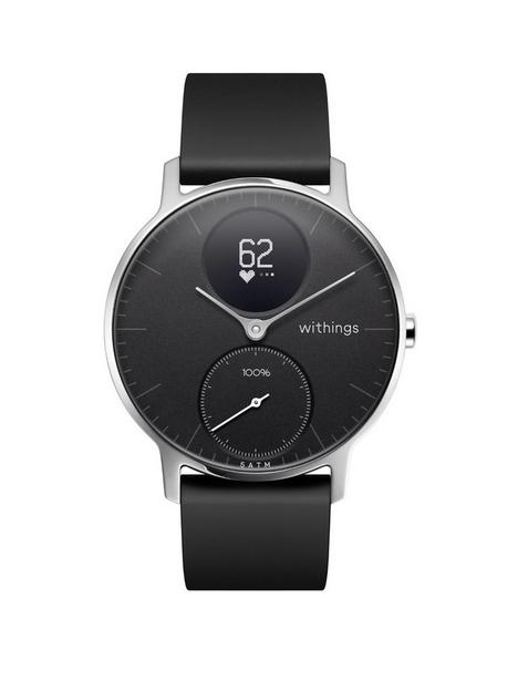 withings-withings-steel-hr-hybrid-smartwatch-activity-tracker-with-connected-gps-hrm-sleep-monitor-36mm-black