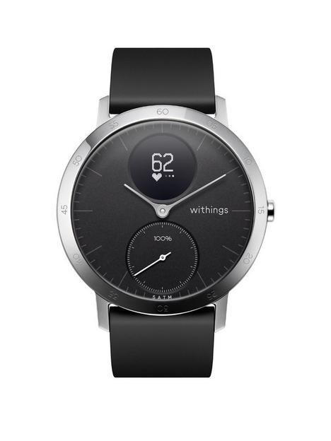 withings-withings-steel-hr-sport-hybrid-smartwatch-activity-tracker-with-connected-gps-hrm-fitness-levels-sleep-monitor-40mm-black