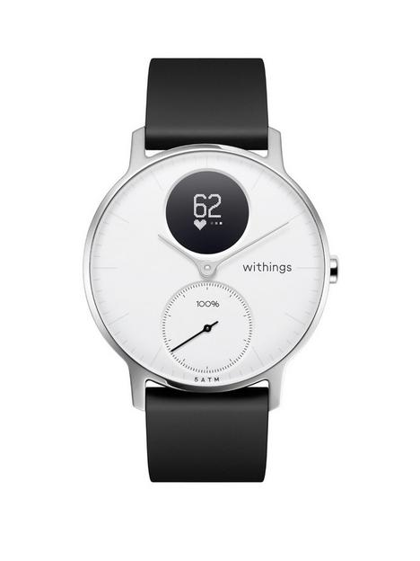withings-withings-steel-hr-hybrid-smartwatch-activity-tracker-with-connected-gps-hrm-sleep-monitor-36mm-white