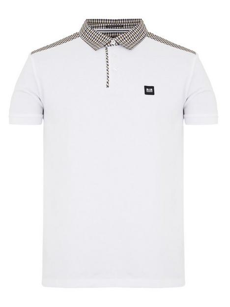 weekend-offender-costa-check-polo-shirt-white