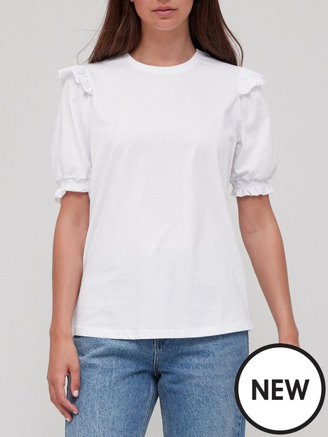 v-by-very-ruffle-puff-sleeve-top-white