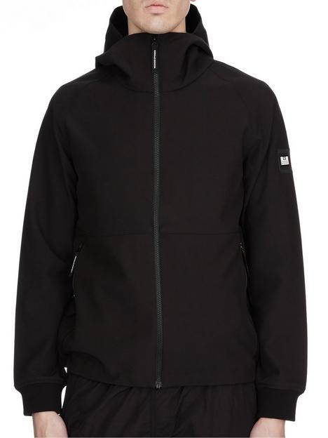 weekend-offender-stipe-softshell-jacket-black