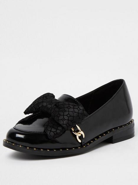 river-island-girls-bow-loafer-school-shoe-black
