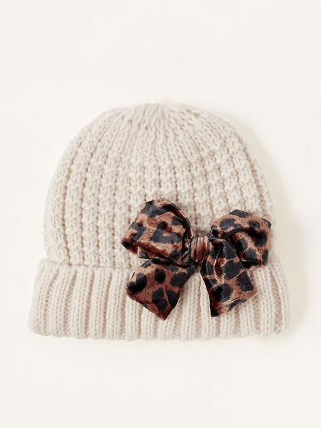 monsoon-girls-katie-leopard-bow-knitted-hat-oatmeal