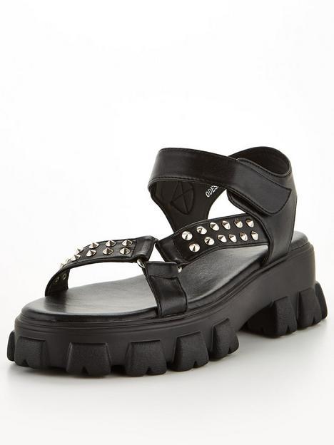 raid-odessa-flat-sandals-black