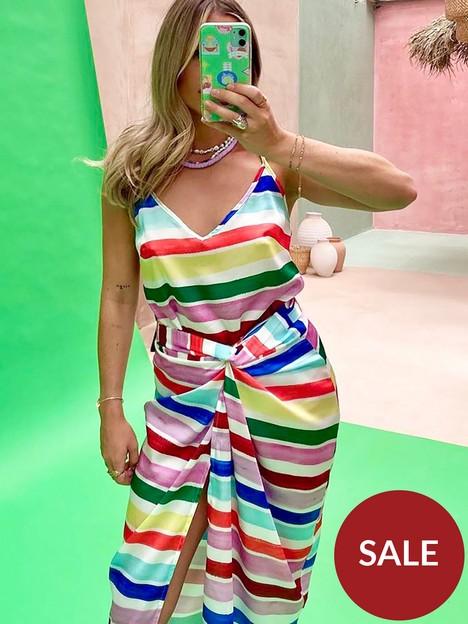 never-fully-dressed-suki-stripe-v-necknbspcami-multi
