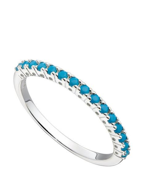 the-love-silver-collection-sterling-silver-amp-turquoise-nano-crystal-stacking-ring