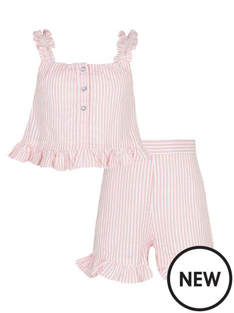 river-island-girls-stripe-cami-and-short-set-pink