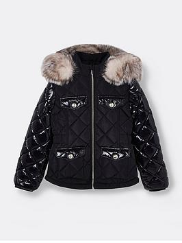 river-island-girls-high-shine-sleeve-quilted-coat-black