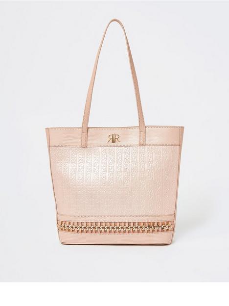 river-island-girls-embossed-shopper-bag-pink