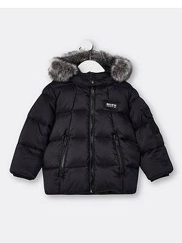 river-island-mini-mini-boys-padded-hooded-coat-black
