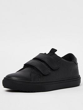 river-island-boys-monogram-debossed-school-shoe-black