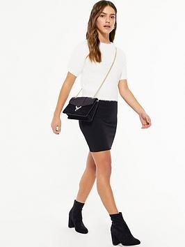 new-look-petite-textured-tube-mini-skirt-black