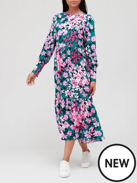 v-by-very-tiered-floralnbspmidi-dress-floral-print