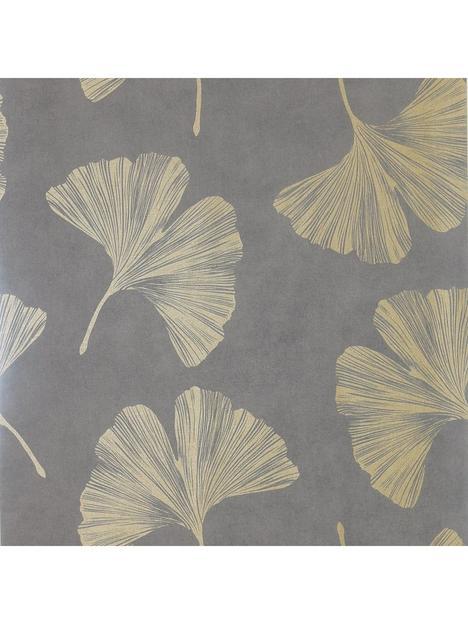 arthouse-ginkgo-leaf-mocha-wallpaper