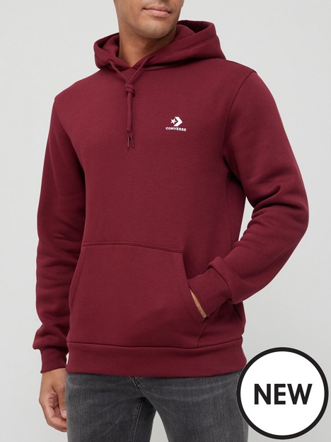converse-embroidered-star-chevron-pullover-hoodie-burgundy