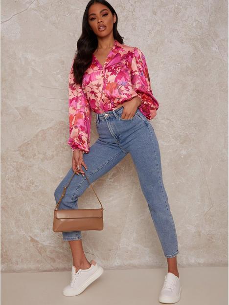 chi-chi-london-floral-print-shirt-multi