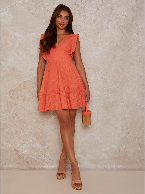 chi-chi-london-plunge-broidery-mini-day-dress-coral