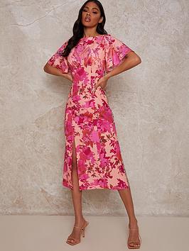 chi-chi-london-floral-mix-print-midi-dress-multi