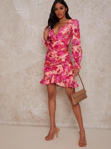 chi-chi-london-floral-print-mini-dress-multi