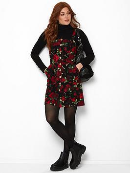 joe-browns-rocking-roses-pinafore-dress-black