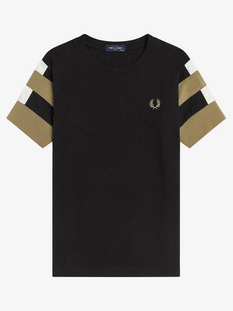 fred-perry-boys-bold-tipped-t-shirt-black