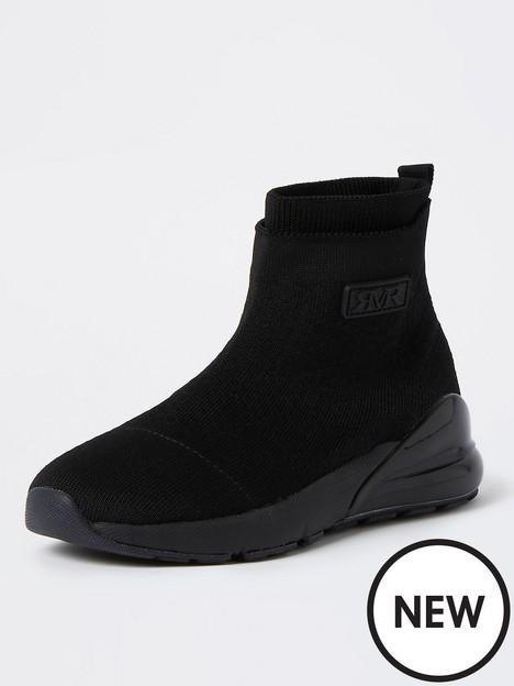 river-island-boys-bubble-sock-trainers-black