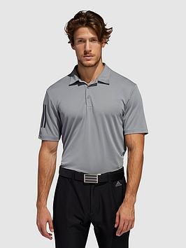 adidas-golf-3-stripe-polo-top-greyblack