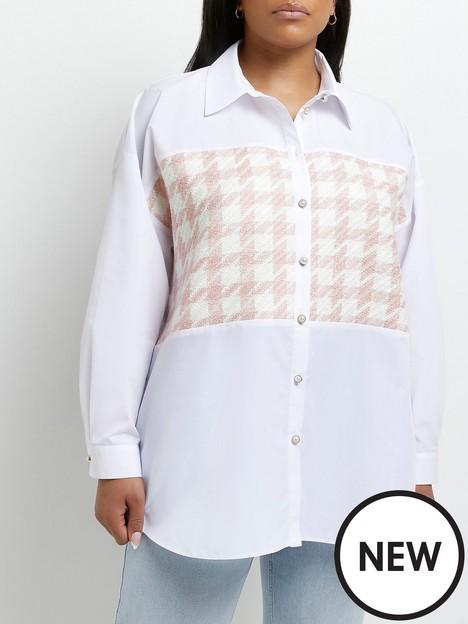 ri-plus-boucle-hybrid-shirt-white