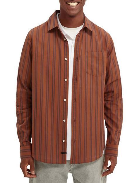 scotch-soda-stripe-shirt-brownnbsp