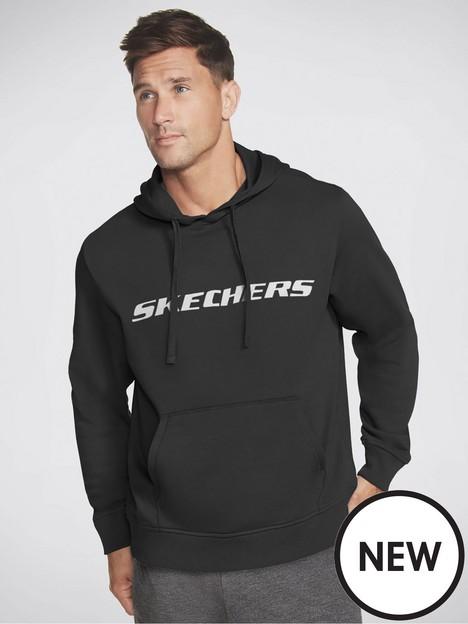 skechers-heritage-pullover-fleece-hoodie-black