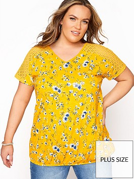 yours-yours-clothing-lace-yoke-bubble-hem-aop-yellow-floral