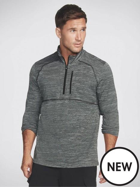 skechers-on-the-road-knit-14-zip-grey