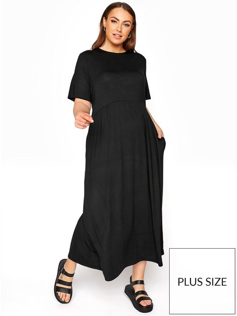 yours-yours-limited-throw-on-maxi-t-shirt-dress-black