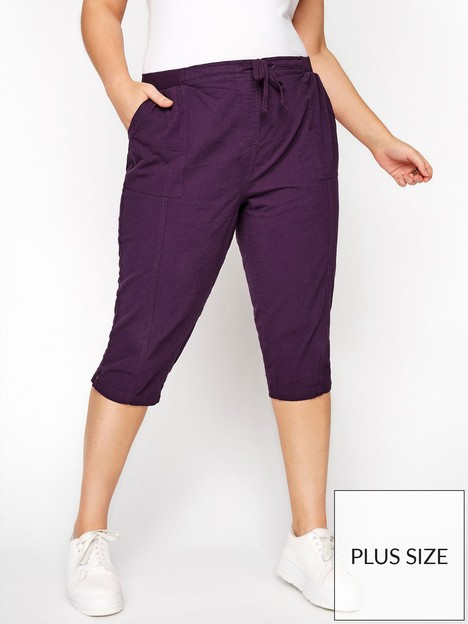 yours-clothing-cool-cotton-crop-purple