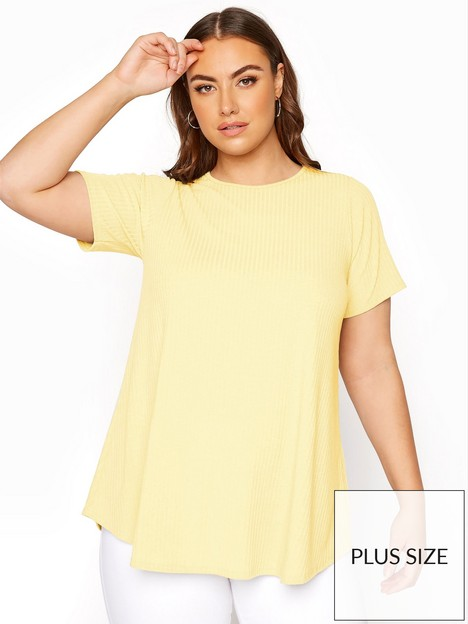 yours-yours-limited-ribbed-swing-tee-lemon-yellow
