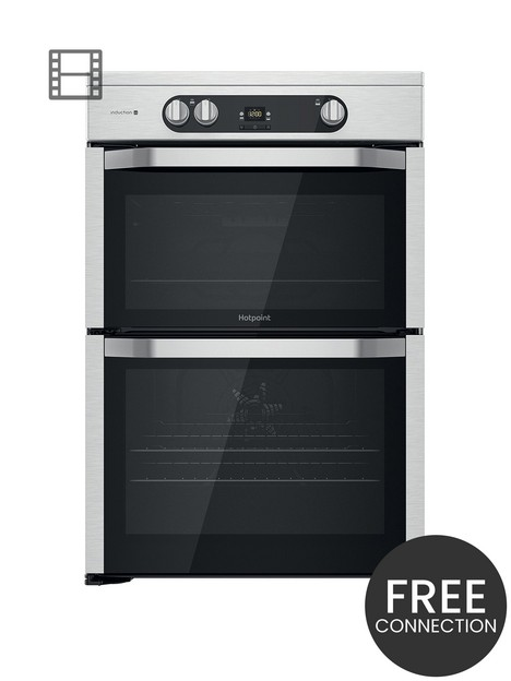 hotpoint-hdm67i9h2cx-60cm-widenbspfreestanding-double-oven-induction-cooker
