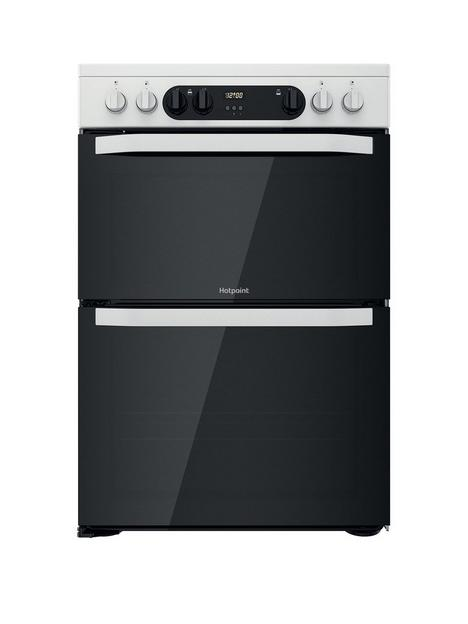 hotpoint-hdm67v9cmw-60cm-widenbspfreestanding-double-oven-electric-cooker