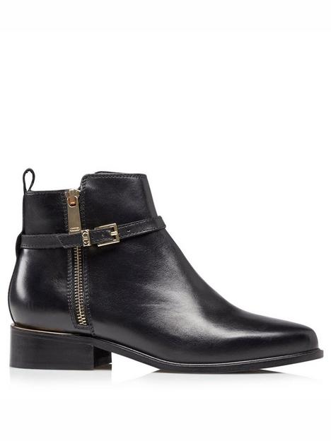 dune-london-pop-double-buckle-leather-ankle-boot-black