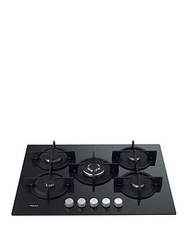 hotpoint-hgs72sbk-73cm-wide-built-in-gas-on-glass-hob-black
