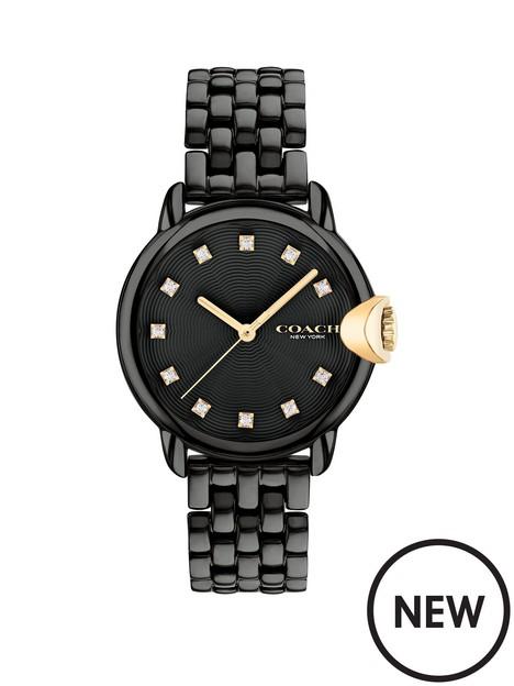 coach-black-dial-black-bracelet-watch