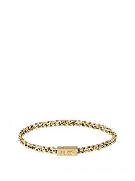 boss-chain-logo-bracelet