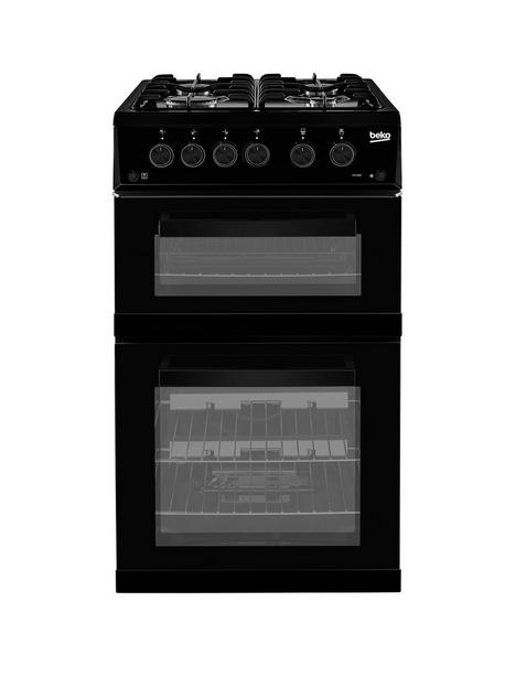 beko-kdg582k-twin-cavity-gas-cooker-black