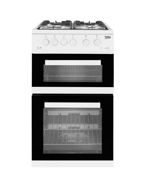 beko-kdg582w-twin-cavity-gas-cooker-white