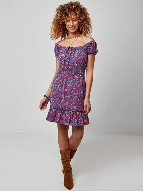 joe-browns-joe-browns-flirty-summer-mini-dress--turquoisepink