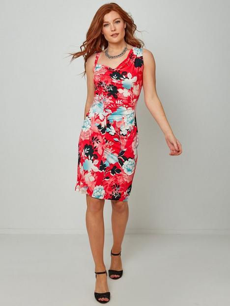 joe-browns-asymmetric-midi-dress--pink